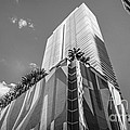 Miami Downtown Buildings - Miami - Florida - Black and White Poster by Ian Monk