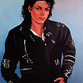Michael Jackson Bad Poster by Paul  Meijering