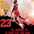 Michael Jordan Greatest Ever Poster by Israel Torres