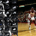 MICHAEL JORDAN SHOES Print by Joe Hamilton