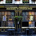Michael's London Pub Poster by David Pyatt