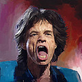 Mick Jagger Painting Poster by Robert Wheater