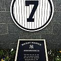 Mickey Mantle Tribute Yankee Stadium Poster by Amy Cicconi