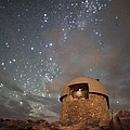Milky Way Clouds Over The Mount Evans Observatory Poster by Mike Berenson