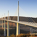 Millau Viaduct at Sunrise Midi Pyrenees France Poster by Colin and Linda McKie