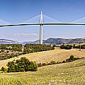 Millau Viaduct Panorama Midi Pyrenees France Print by Colin and Linda McKie