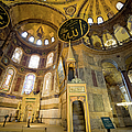 Mimbar and Mihrab in the Hagia Sophia Poster by Artur Bogacki