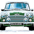 Mini Cooper on Ice Poster by David Kyte