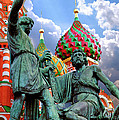 Minin and Pozharsky Monument in Moscow Print by Oleksiy Maksymenko
