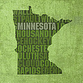 Minnesota Word Art State Map on Canvas Print by Design Turnpike
