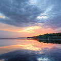 Mirrored Sunset Print by JC Findley
