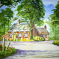 Miss Marples Cottage  St Mary-Meade Poster by Ian Scott-Taylor