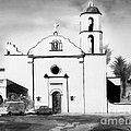 Mission San Luis Rey BW Blue Poster by Kip DeVore