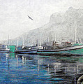 Misty Morning in Hout Bay Print by Michael Durst