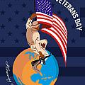 Modern American Veterans Day Greeting Card Print by Aloysius Patrimonio