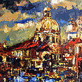 Modern Impressionist Venice Sparkling at Sunset  Poster by Ginette Fine Art LLC Ginette Callaway