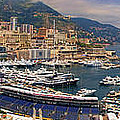 Monaco Panorama Poster by David Smith