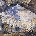 Monet, Claude 1840-1926. The Gare St Print by Everett