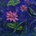 Monet's Lily Pond II Poster by Xueling Zou