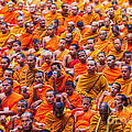 Monk Mass Alms Giving Poster by Fototrav Print