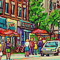 MONKLAND TAVERN CORNER OLD ORCHARD MONTREAL STREET SCENE PAINTING Poster by CAROLE SPANDAU