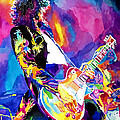 Monolithic Riff - Jimmy Page Print by David Lloyd Glover