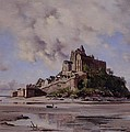 Mont Saint Michel Poster by Emmanuel Lansyer