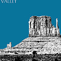 Monument Valley - Steel Print by DB Artist