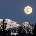 Moon Glow Whistler Canada Print by Pierre Leclerc Photography