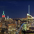 Moon Over Manhattan at Twilight Print by Lee Dos Santos