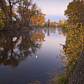 Moon Over the Poudre Print by Michael Van Beber