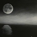 Moon over the Shores Poster by Barbie Baughman