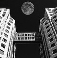 Moon Over Twin Towers Poster by Samuel Sheats