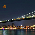 Moonrise over Manhattan Print by Susan Candelario