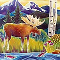 Moose on Trout Creek Print by Harriet Peck Taylor