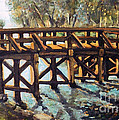 Morning at the Old North Bridge Print by Rita Brown
