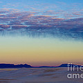 Morning Begins in White Sands Poster by Sandra Bronstein