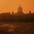 Morning Glow over City Hall Poster by Jim Vance