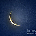Morning Moon Textured Print by Al Powell Photography USA