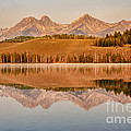 Morning Sawtooth Reflections Print by Robert Bales