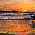 Morning Surf Print by Debra and Dave Vanderlaan
