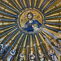 Mosaic of Christ Pantocrator Print by Ayhan Altun