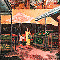 Mother and Child at the Farmer's Market Print by Robert Yaeger
