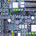 Motherboard Abstract 20130716 p38 Print by Wingsdomain Art and Photography