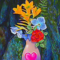 Mothers Day Bouquet Print by Teresa Ascone