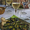 Moules and Chardonnay Print by Allen Sheffield