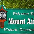 Mount Airy Sign NC Poster by Bob Pardue