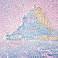 Mount Saint Michel Fog and Sun Print by Paul Signac