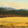 Mt. Bachelor Poster by Donna Drake