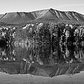 Mt Katahdin Black and White Print by Glenn Gordon